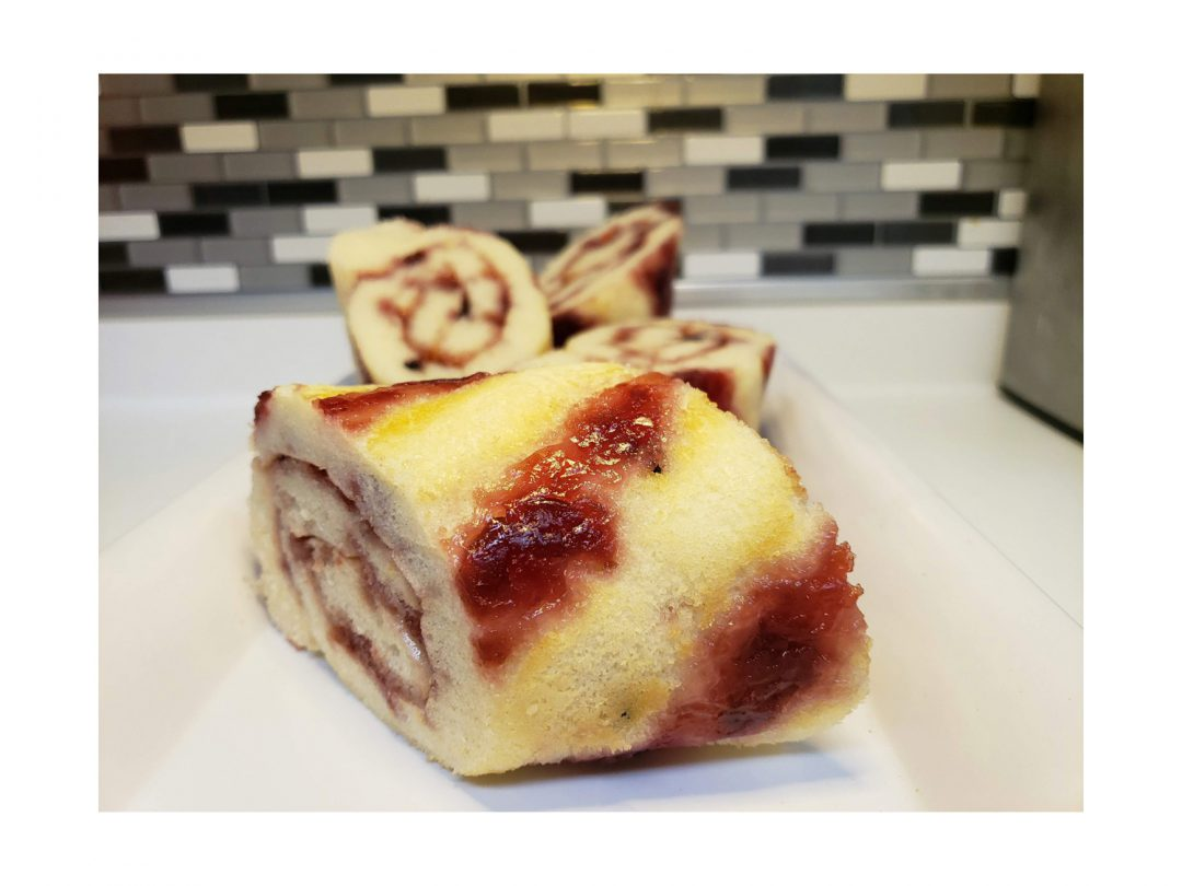 Cherry & Blueberry Pancake Rolls Recipe