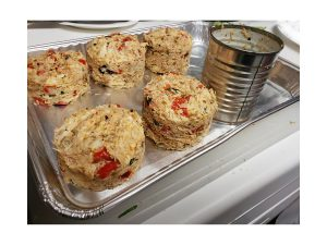 Mile-High Crab Cakes on Baking Tray