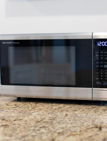 Sharp Smart Countertop Microwave Oven on a kitchen counter