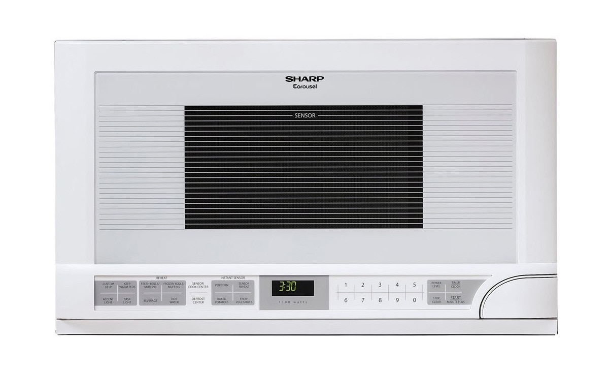 Sharp 1.5 cu. ft. Over-the-Counter Microwave in White (R1211TY)