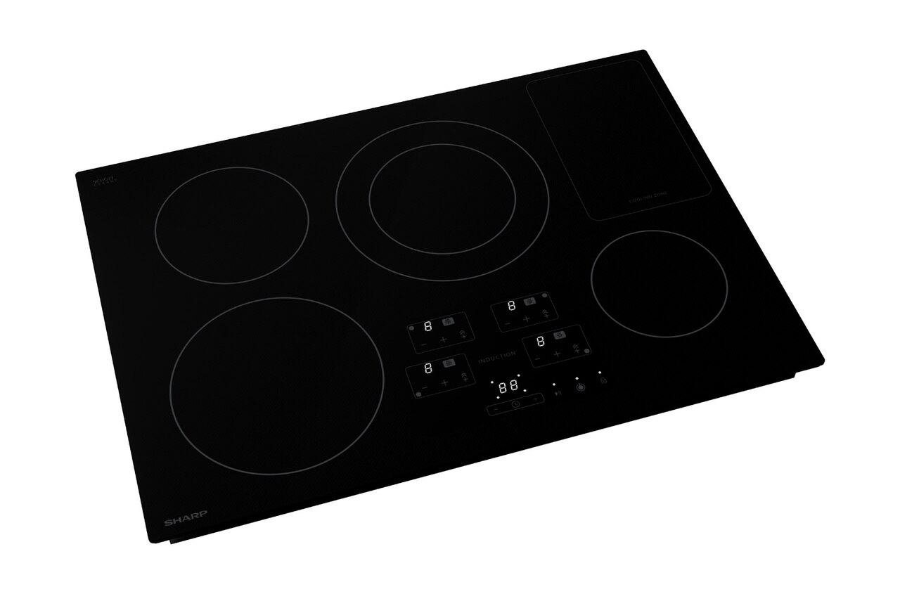 30-Inch Black Cooktop (SDH3042DB) – right angle view