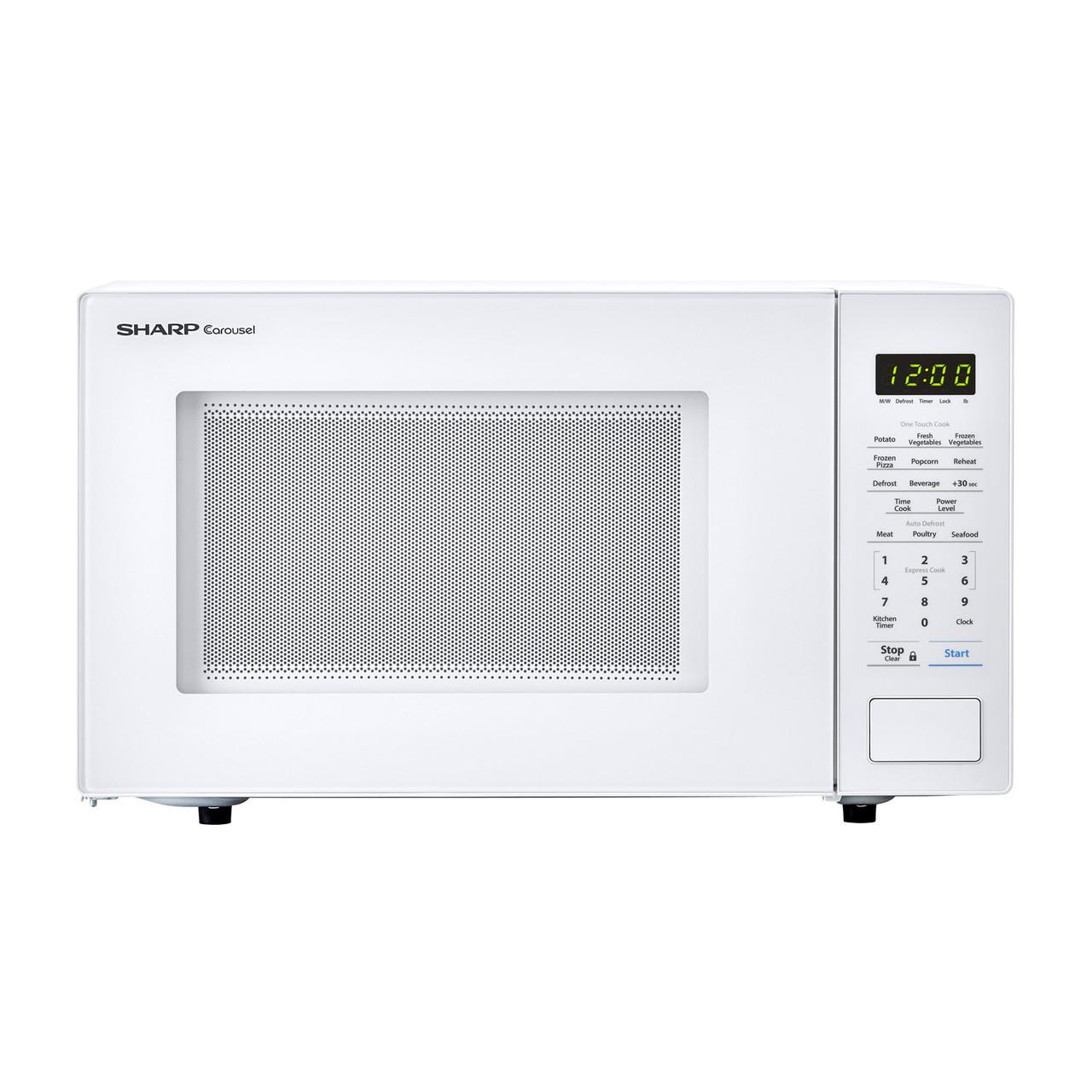 1.1 cu. ft. Sharp White Countertop Microwave (SMC1131CW)
