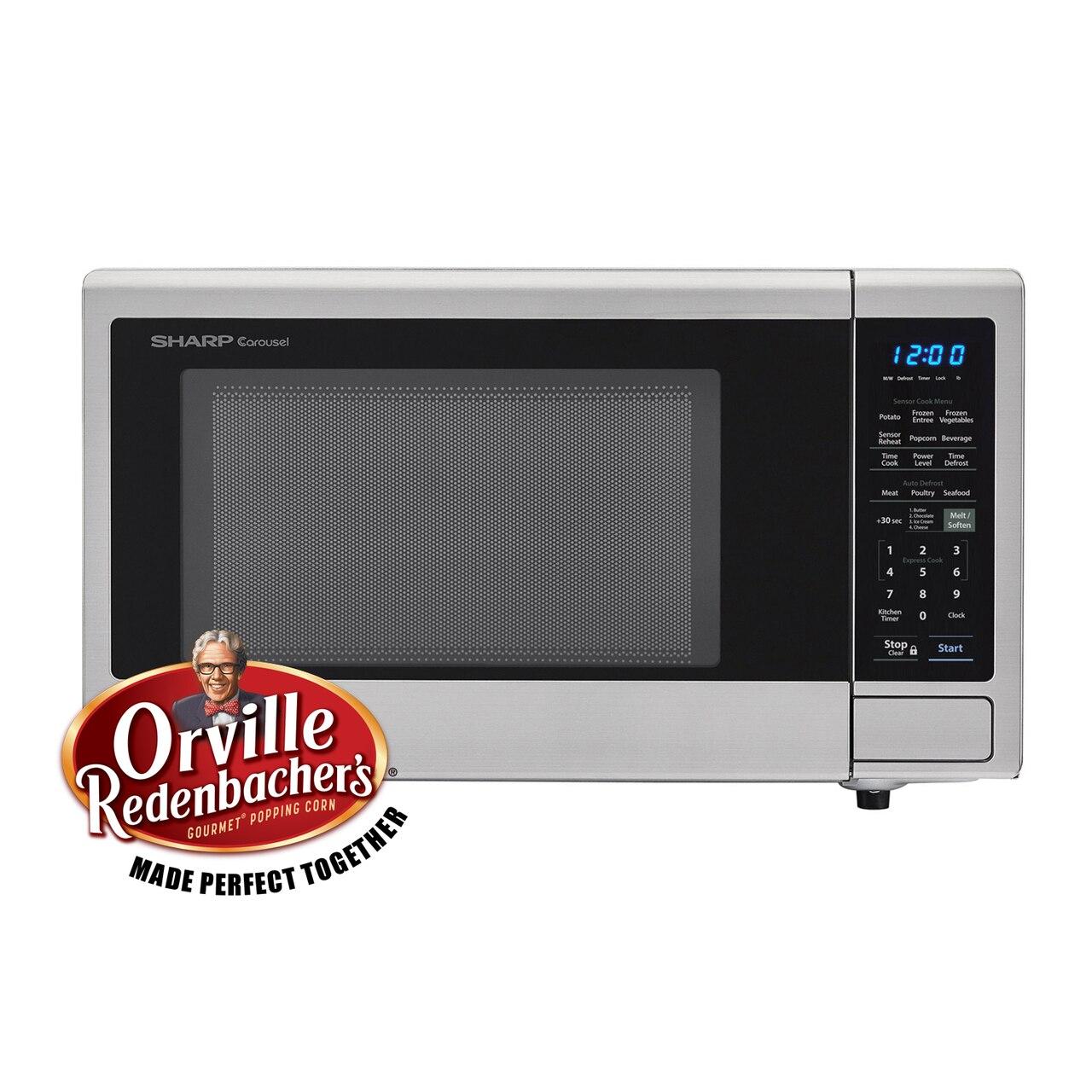 1.4 cu. ft. Sharp Stainless Steel Countertop Microwave (SMC1442CS) Orville Redenbacher's® Certified Popcorn Presets