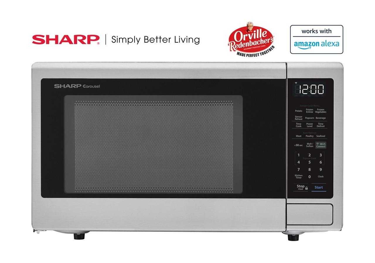 1.4 cu. ft. Sharp Stainless Steel Smart Microwave (SMC1449FS)