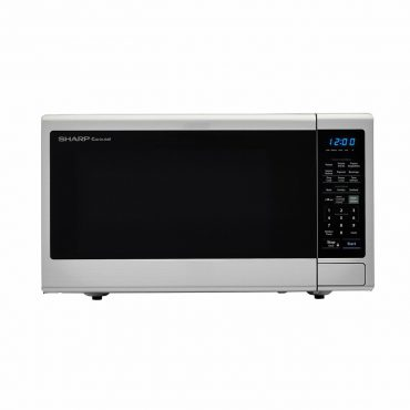 1.8 cu. ft. Sharp Stainless Steel Microwave with Black Mirror Door (SMC1843CM)