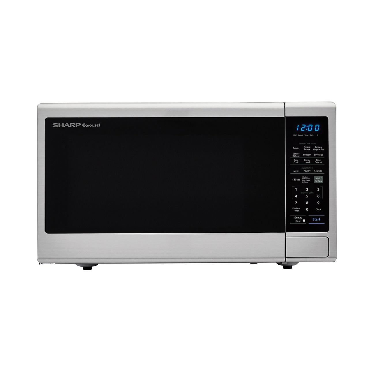 1.8 cu. ft. Sharp Stainless Steel Microwave with Black Mirror Door (SMC1843CM)