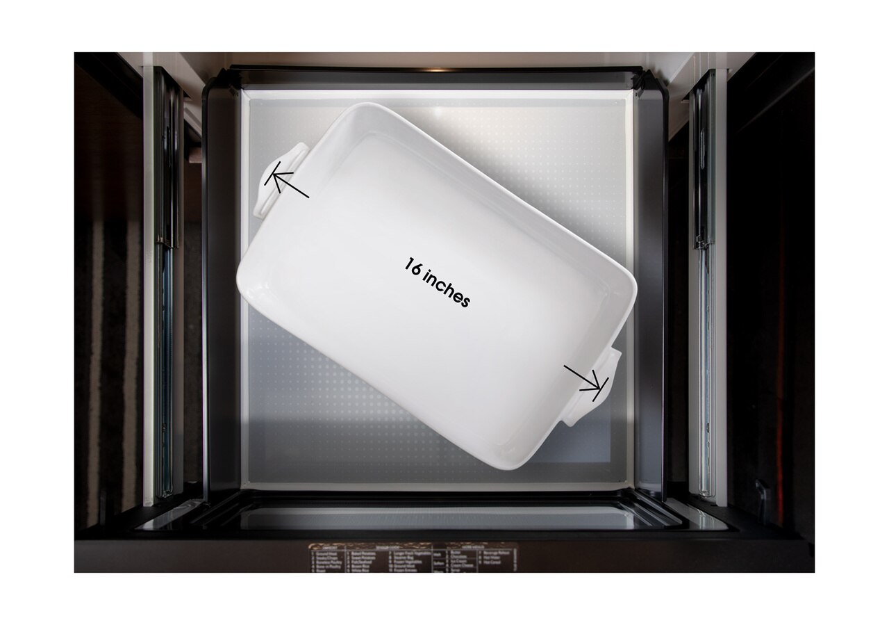 Pull-out Microwave: 24 in. Sharp Stainless Steel Smart Microwave Drawer Oven (SMD2489ES) Works with Alexa, and the Sharp Kitchen App on the App Store and Google Play:  – Fits a 16-inch baking dish