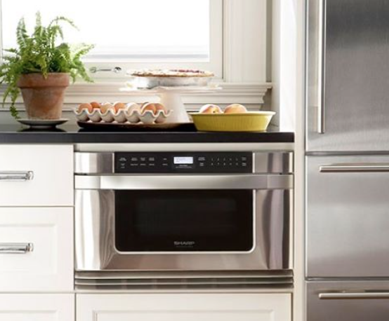 Space-Saving Appliances & Tips - Built-in Microwaves