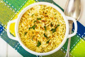 Bigger, Bolder Chicken Noodles Prepared in a Microwave