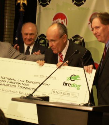 Rudy Giuliani and Peter Weedfald
