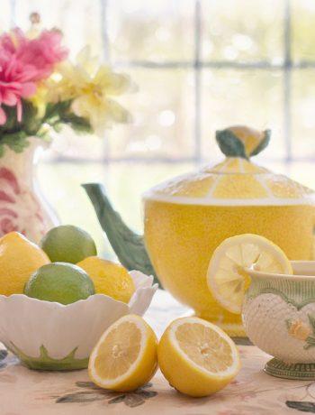 Lemon and tea