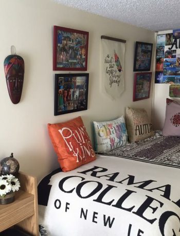 Decorated and modern dorm room