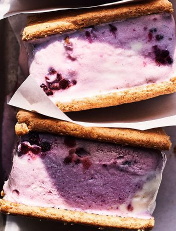 Blackberry-Ginger Ice Cream Sandwiches