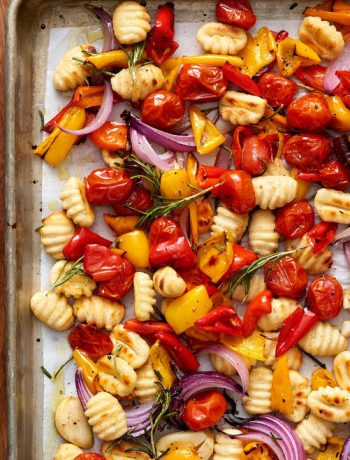 Crispy Sheet Pan Gnocchi and Veggies