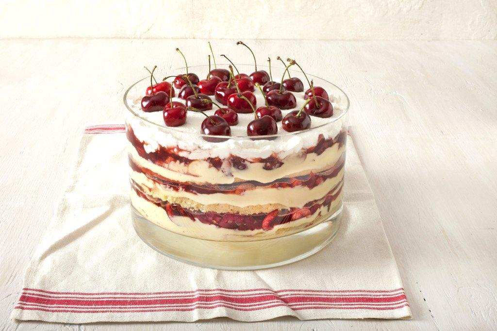 Cherry dessert creation