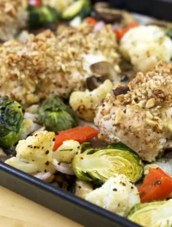 Low-Carb Keto Almond Crusted Chicken Dinner