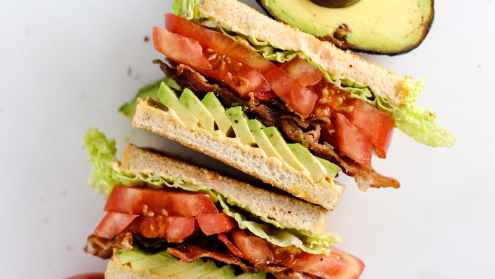 Bacon with sandwich