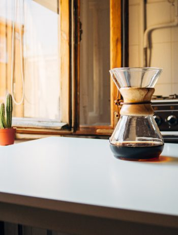 Throwback kitchen design with a jar of coffee