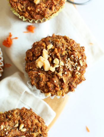 One-Bowl Vegan, Gluten-Free Carrot Apple Muffins
