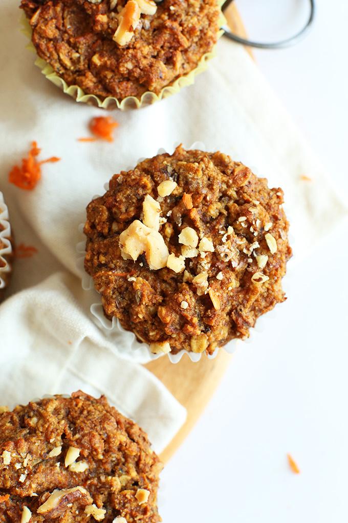 One-Bowl Vegan, Gluten-Free Carrot Apple Muffins