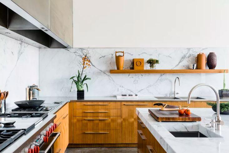 Modern and wooden kitchen design