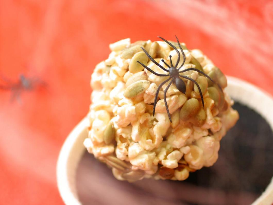 Halloween Pepitas Popcorn Balls