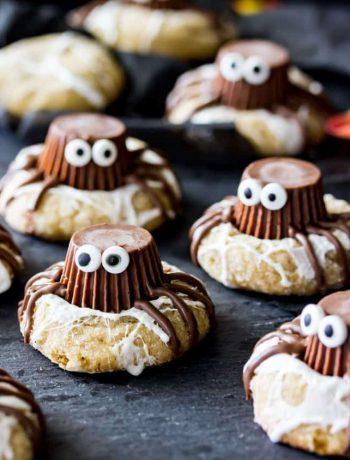 Peanut butter cups halloween cookies.