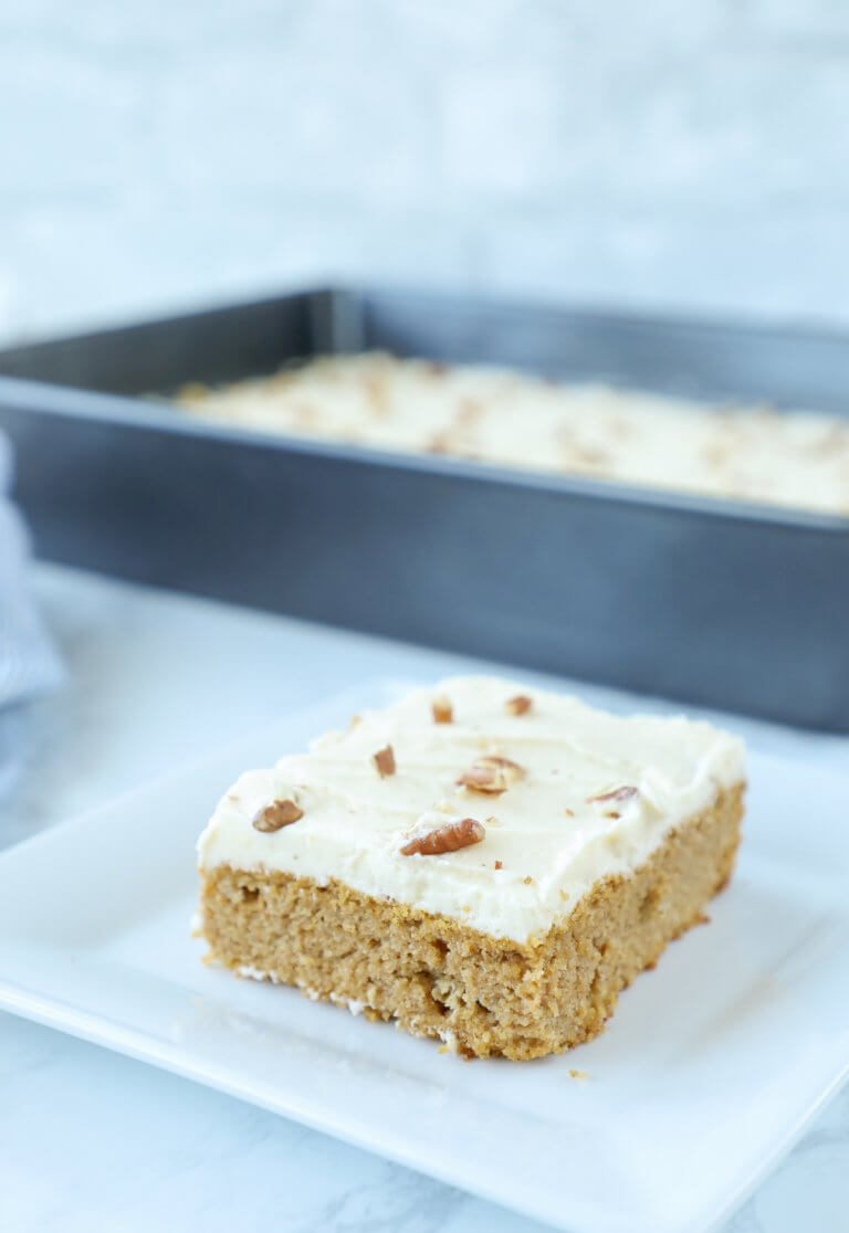 Keto Pumpkin Spice Sheet Cake Low Carb