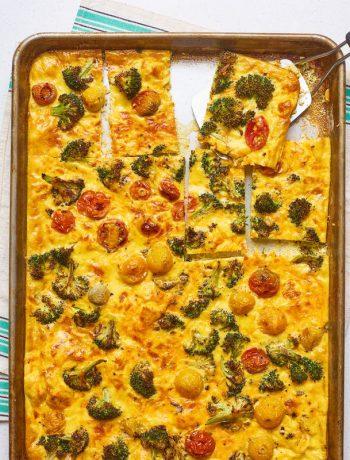 Vegetable Frittata Sheet Pan