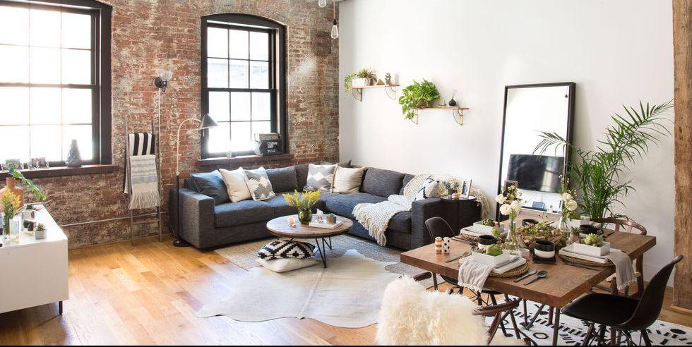 Fall decor in an urban apartment setting.