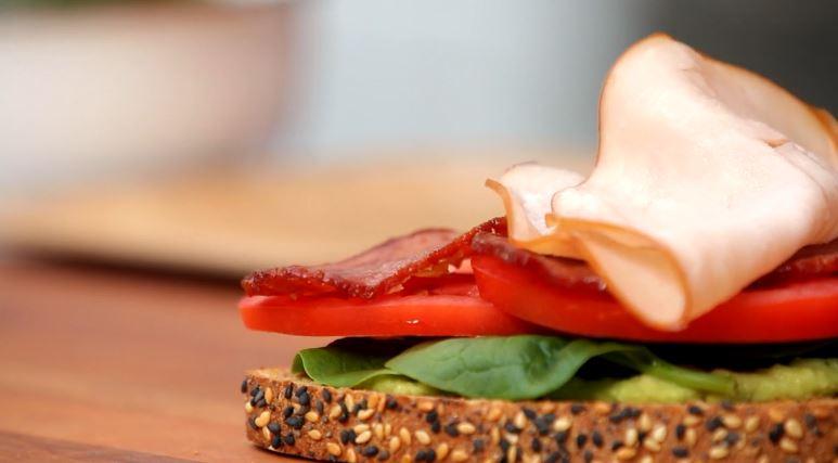 Close up image of a sandwich