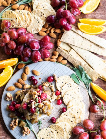 Baked Brie with Pear Chutney