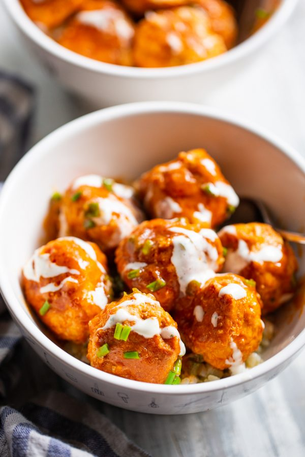 Paleo Running Momma's Buffalo Chicken Meatballs