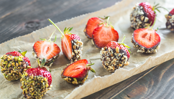 Mindful Sodexo's Chocolate Dipped Strawberries with Nuts