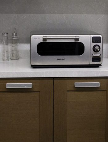 Sharp Superheated Steam Countertop Oven in a modern kitchen.