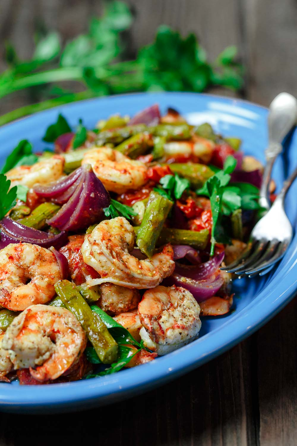 The Mediterranean Dish's Shrimp Sheetpan Recipe