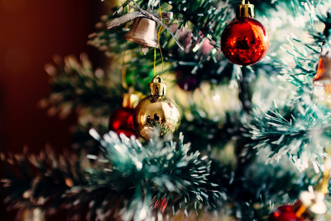 Holiday decorations and tree ornaments.