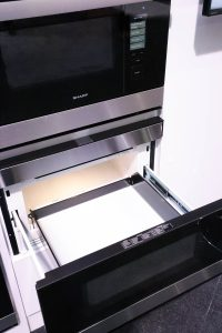 Under Counter Microwave with Drawer Opened - Microwave Drawer Pros & Cons