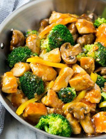 Garlic Chicken Stirfry