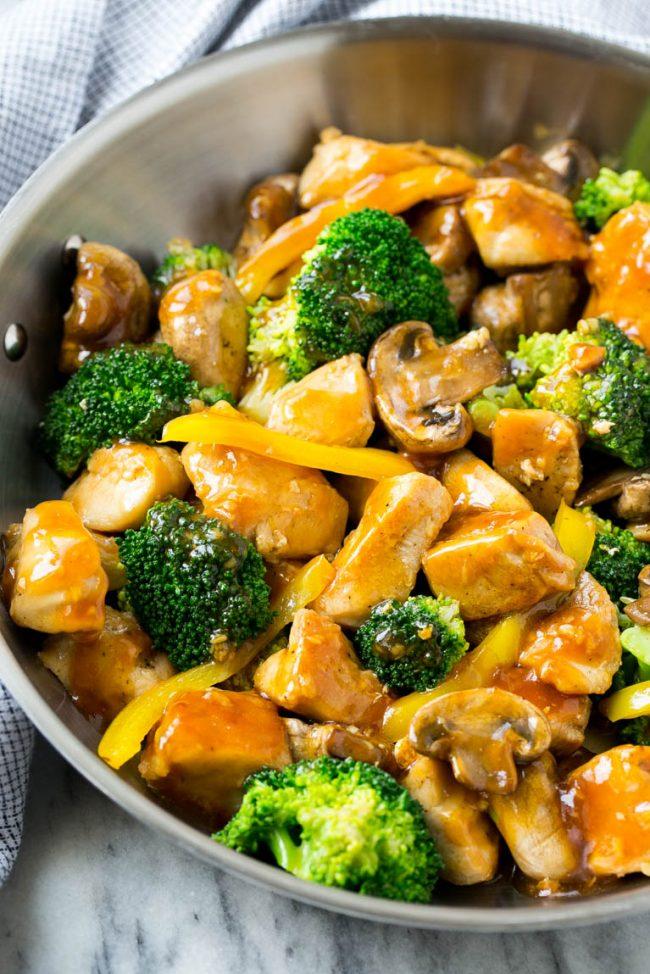 Garlic Chicken Stirfry