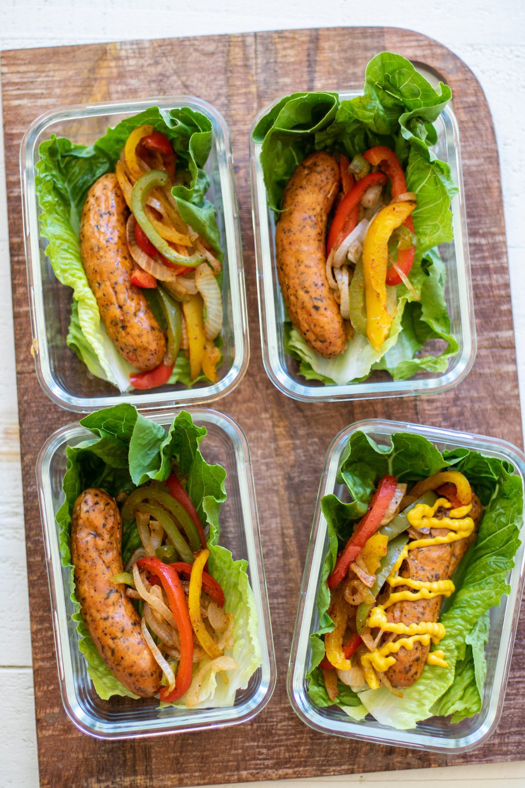 Sausage and Pepper Lettuce Wraps