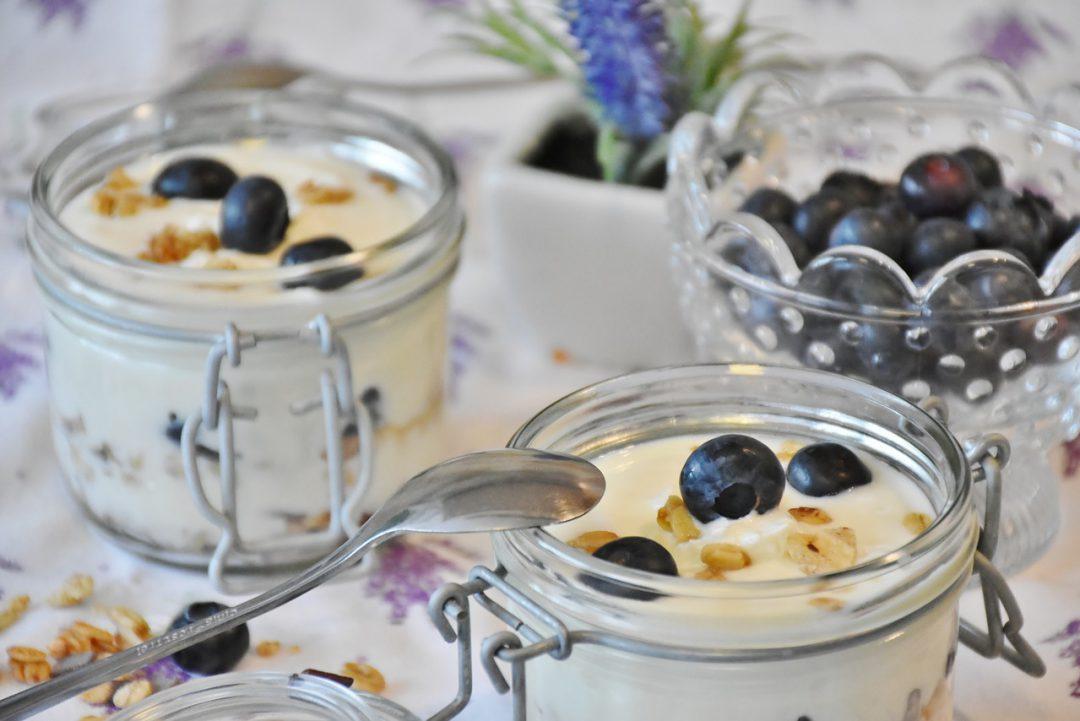 Blueberry yogurt.