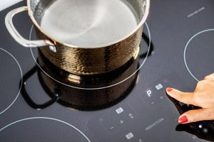 Controls on a SHARP USA Induction Cooktop