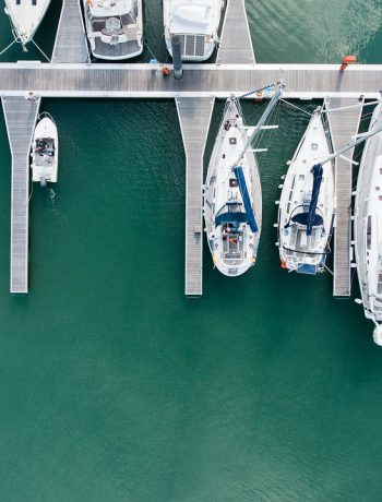 Boats in a marina.
