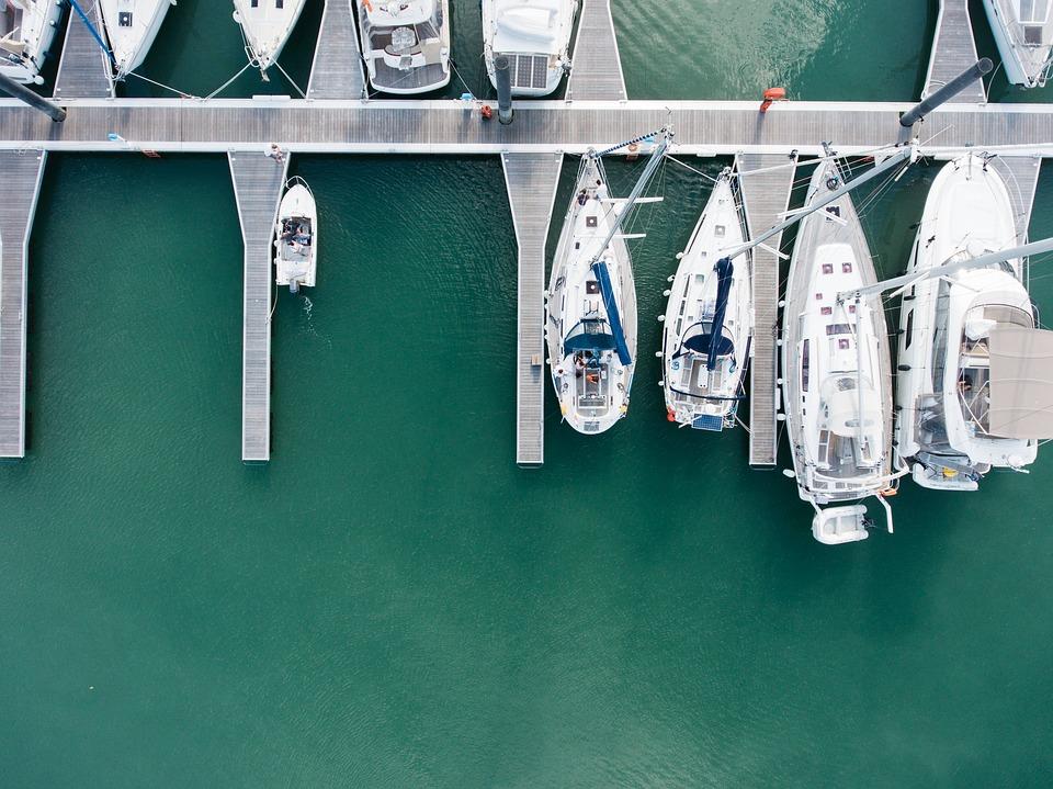 Boats in a marina.