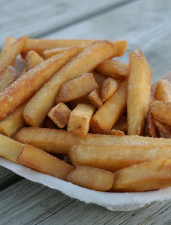 French fries with salt in a bowl.