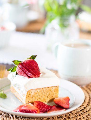 Gluten Free/Non-Dairy Tres Leches Cake.