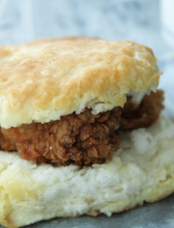 Chicken Biscuit on a table.