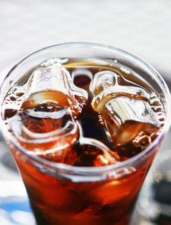 Homemade Iced Tea in a glass with ice.