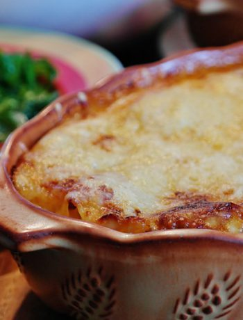 Gluten Free Lasagna in a dish.